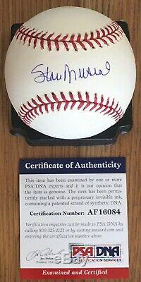 Vintage Stan Musial Licensed Psa/dna Authenticated Signed New Game Baseball