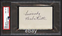 WOW! Babe Ruth Signed Autographed Cut NM-MT Grade 8 Encapsulated PSA/DNA