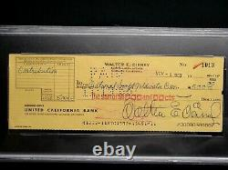 Walt Disney Psa/dna Certified Authentic Signed Autographed 1963 Check Rare! Mint