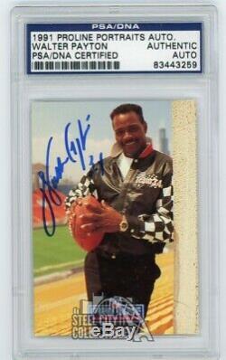 Walter Payton 1991 Proline Portraits Autographed Auto Card PSA/DNA