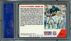 Walter Payton Autographed Signed 1991 Pro Set Card #1 Bears Psa/dna 60894