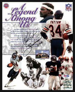 Walter Payton Autographed Signed 8x10 Photo Bears Sweetness Psa/dna 19781