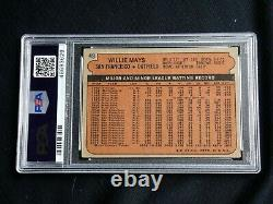 Willie Mays Psa/dna 1972 Topps Signed Card #49 Autograph Grade 9 Mint Auto