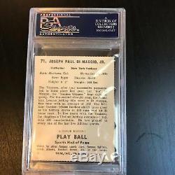 1941 Jouer Au Ballon Carte De Baseball Rp Autographiée Et Signée Joe Dimaggio Psa Dna Coa