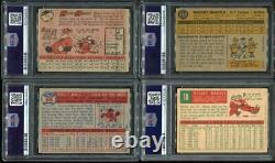 1952-1968 Mickey Mantle Topps & Bowman Dna Psa 10 Collection D'auto Signé