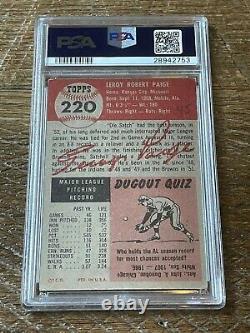 1953 Topps Satchell Paige Rc Sp, Psa/adn Signé Autographié Rare, Hofer