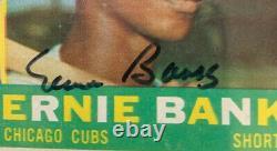 1960 Topps # 10 Ernie Banks Cubs Psa Adn Auto Nice Nice Mint Signé Carte D'origine Hof
