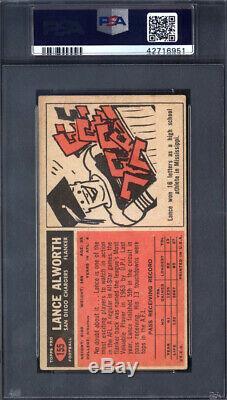 1965 # 155 Lance Topps Alworth Autosigné Autographiés Chargeurs Psa / Adn 694009