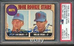 1968 O-pee-chee Nolan Ryan Jerry Kossman Rc Signé Psa Dna Auto Autograph 10
