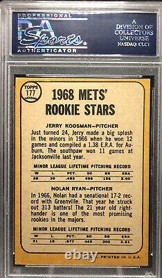 1968 Topps #177 Nolan Ryan Rookie Psa/dna Gem Mint 10 Auto- 1/1 Autographe