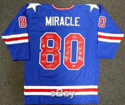 1980 Miracle On Ice Team USA Autographed Jersey 20 Sigs Psa / Adn Itp 113797