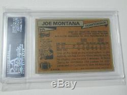 1981 Joe Montana Rookie Topps # 216 Psa / Dna Auto Autograph Rookie Rc 49ers 49ers