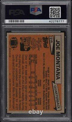 1981 Topps Football Joe Montana Rookie Rc Psa/dna 10 Auto # 216 Psa 10 Gem Mint