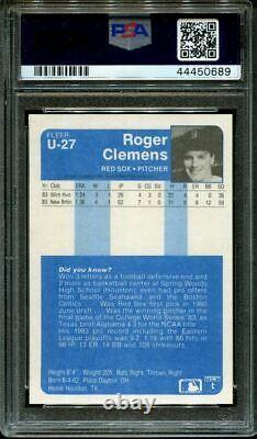 1984 Mise À Jour De Fleer #u-27 Roger Clemens Rc Psa 9 Dna Auto 10 B1013190-689