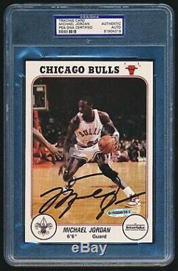 1985 Bulls Interlake Signés Michael Jordan Psa / Adn Seulement 5 Jamais Assermentée