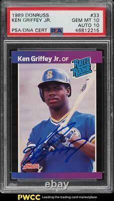 1989 Donruss Ken Griffey Jr Rookie Rc #33 Psa/dna 10 Auto Psa 10 Gem Mint