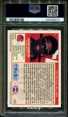 1989 Pro Set #486 Deion Sanders Rc Hof Psa Authentic Dna Auto 10 F1013386-072