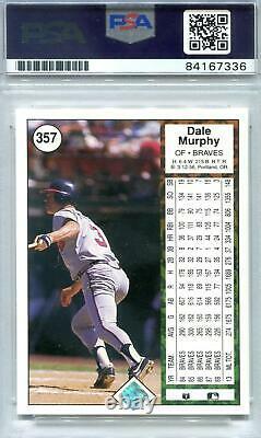 1989 Upper Deck Baseball Dale Murphy Autographié Carte (négatif Inverse) Psa / Adn