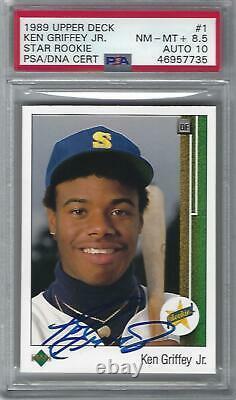 1989 Upper Deck Ken Griffey Jr. Signed Auto Rookie Psa/dna Card Auto 10