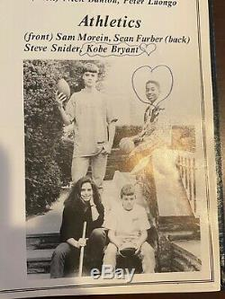 1992 Kobe Bryant Signé 8e Année Yearbook La Lakers Famer Rare De Hall! Psa / Adn