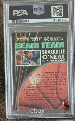 1992 L'équipe Du Stadium Club Beam A Signé Shaquille O'neal Rookie Psa/adn Auto