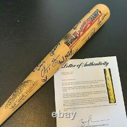 1995 Atlanta Braves World Series Champs Team Signed Bat Chipper Jones Psa Dna