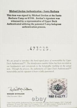 1997 Upper Deck Game Jersey Michael Jordan Patch Psa/adn 9 Auto Mba Psa 7 Nrmt