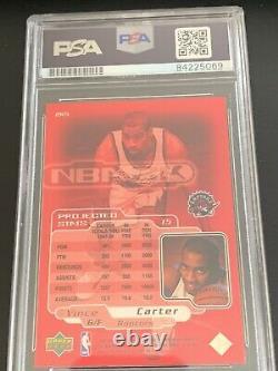 1998-1999 Sp Authentic Vince Carter Signé Auto Rookie Carte Psa/adn Nba2k