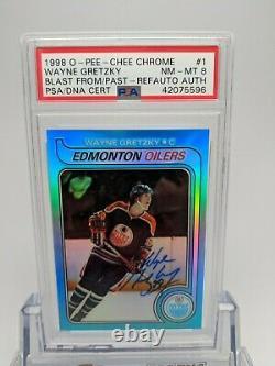 1998 Opc Hockey Wayne Gretzky Rc Refractor Blast Passé 1979 Psa / Dna Auto Signé