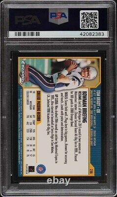 2000 Bowman Chrome Tom Brady Rookie Rc Psa/dna 10 Auto #236 Psa 10 Gem Mint