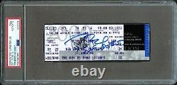 2000 Tom Brady Signé Patriots Rookie Rc NFL Débuts Full Ticket Psa / Dna Auto