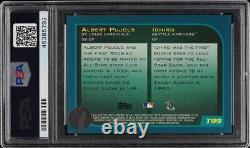 2001 Topps Traded Gold Ichiro Albert Pujols Rookie Psa/dna 10 Auto /2001 Psa 8