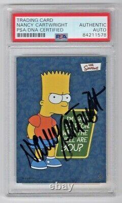 2002 Topps Les Simpson Nancy Cartwright A Signé La Carte De Trading Automobile #25 Psa/adn