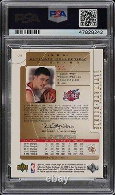 2002 Ultimate Collection Yao Ming Recrue Rc Patch Psa / Dna 10 Auto / 25 # 79 Psa 10