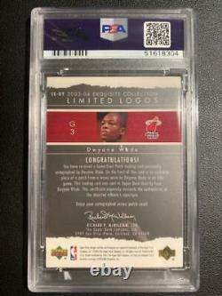2003-04 Ud Exquisite Limited Logos Dwyane Wade Rc 3-color Rpa /75 Psa/dna Auto