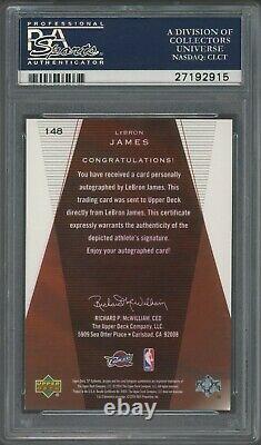 2003-2004 Sp Authentic #148 Lebron James Rc Auto /500 Psa 10 Psa/adn 10 Pop 13