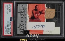 2003 Spx Basketball Lebron James Rookie Rc Patch Psa/dna 10 Auto /750 Psa Auth