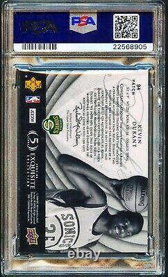 2007-08 Ud Exquis Kevin Durant Rc /99 Nba Logoman Patch Psa 8 Psa/dna 10 Auto