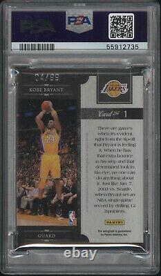 2010 Panini Elite Black Box #1 Kobe Bryant Auto Reigning 3's Psa Dna 9 Lakers