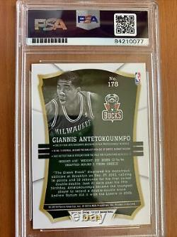 2013 Sélectionner Basketball Giannis Antetokounmpo Rookie Psa/dna Auto 178 Signé