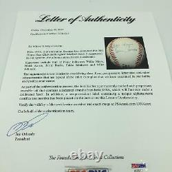 500 Home Run Club Signé Baseball Hank Aaron Willie Mays Ernie Banks Psa Adn