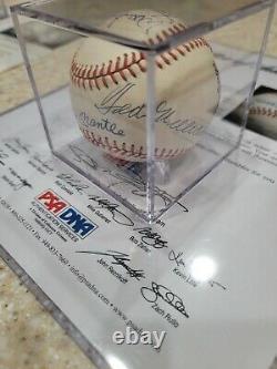 500 Home Run Club Top 7 Signé Auto Baseball Mickey Mantle Ted Williams Psa Adn