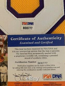 # 8 Bryant Kobe, L. A. Lakers, 5x Nba Champion Autographed Encadré Jersey Psa / Adn