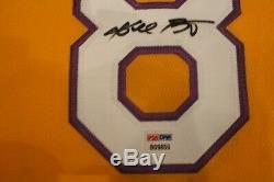 # 8 Bryant Kobe Signe La Lakers Jersey Coa Psa / Adn Autographié Mamba Authentique