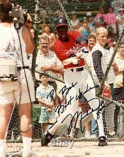 À Bob Meilleurs Voeux Michael Jordan Signé 8x10 Photographie Psa/dna Autograph Bulls