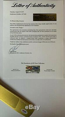 Adam Sandler Signe Heureux Inscription Hockey Stick Putter Psa / Adn Loa # Af71519