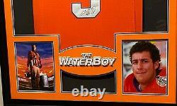 Adam Sandler Waterboy Framed Movie Jersey Psa /dna Signé