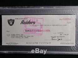 Al Davis Psa / Adn Équipe Raiders Authentiques Signés Chèque Certifié Autograph Hof
