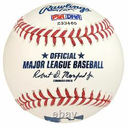Al Kaline Autographed Signé Mlb Baseball Detroit Tigers Hof 80 Psa/dna 85555