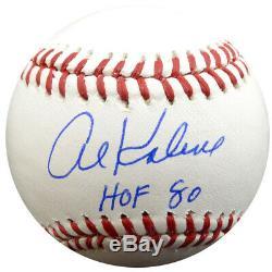 Al Kaline Autographié Signé Lmb Baseball Detroit Tigers Hof 80 Psa / Adn 85555